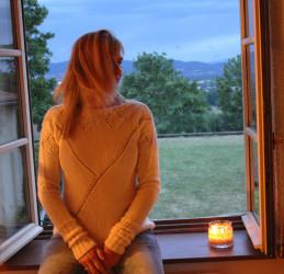 """Le pull """"Pensées""""... ambiance romantique..."""