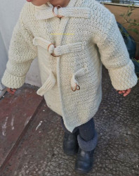 Manteau enfant de Roxana Barbor Vue devant détails